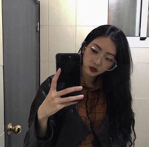 Asian teen girl bathroom selfies