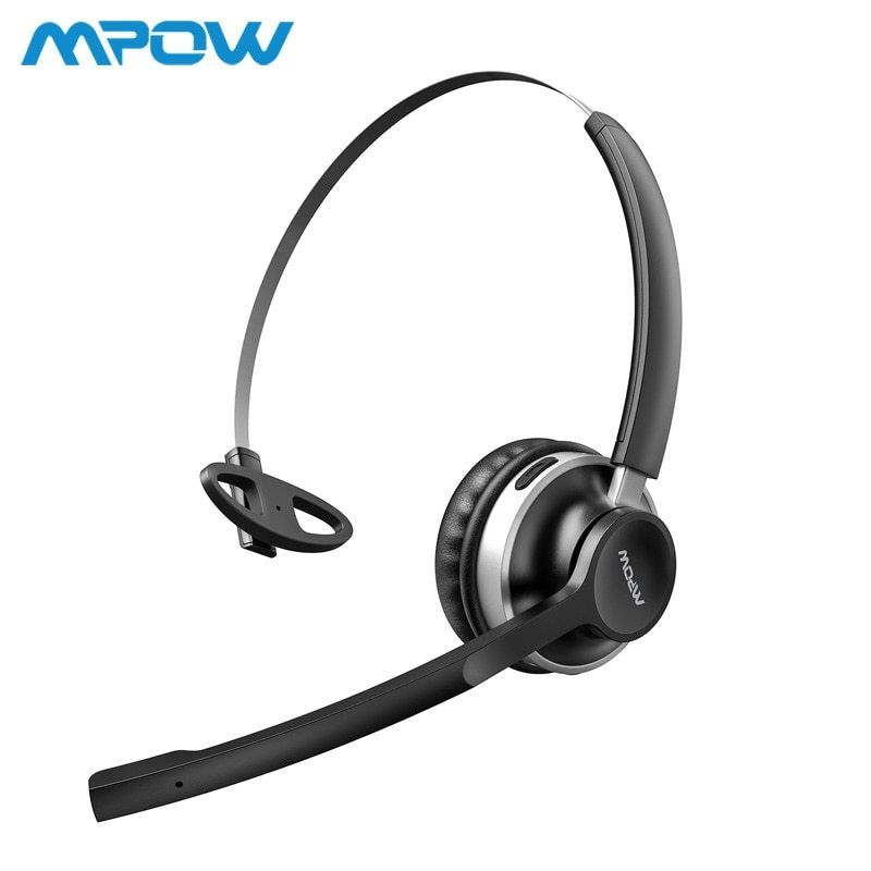 Mpow Hc3 Bluetooth Headphones Dual Noise Cancelling Microphone Crystal Clear Wireless Wired Headphones Pc Laptop Mpow
