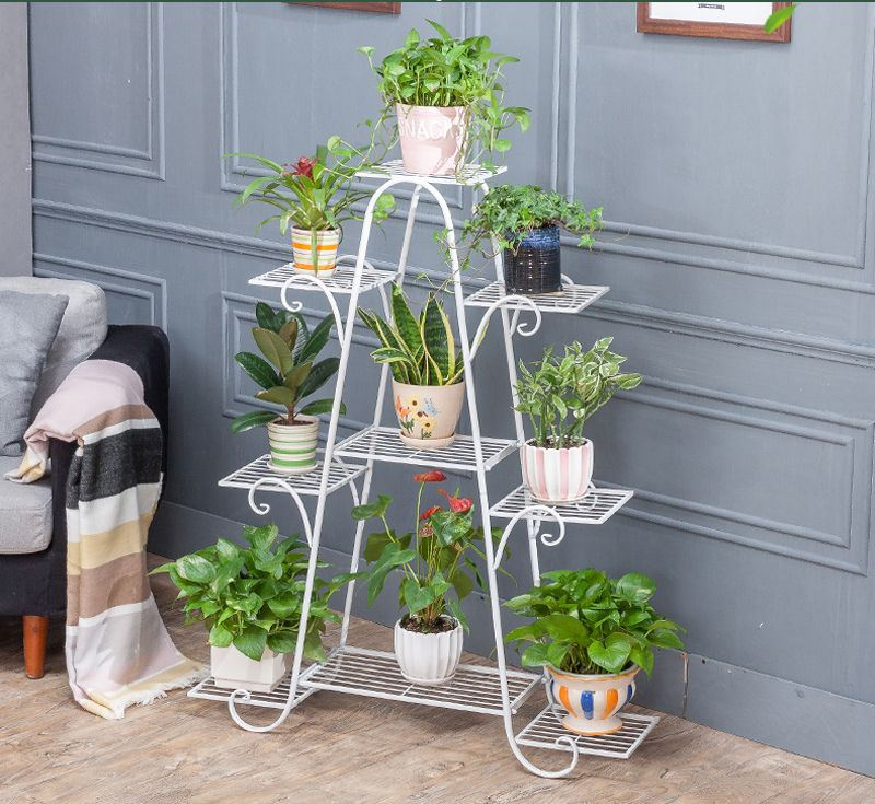 120cm Big Size European Balcony Indoor Flower Pot Holder Garden Flower Stand Iron Flower Pergolas White Black And Indoor Flowers Flower Pot Holder Flower Pots