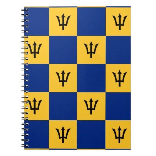 Barbados flag pattern  notebook