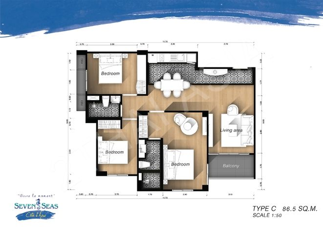 Seven Seas Côte d'Azur - Buy New Condo In Pattaya - Na-Jomtien District