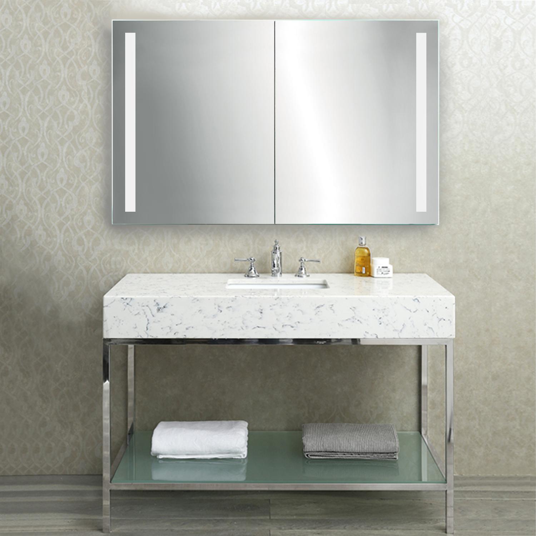 48 Medicine Cabinet Stunning Led Medicine Cabinet 48 Inch X 30 Inch  Lighted 2 Sliding Mirror Design Ideas