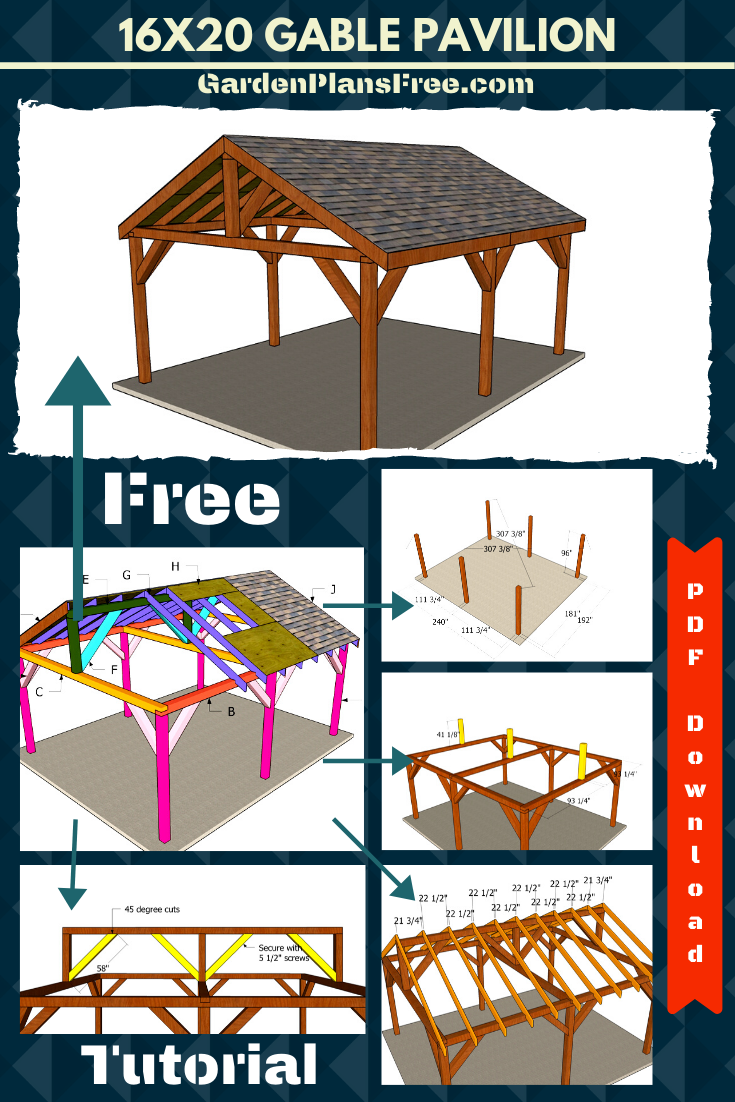 16x20 Pavilion Plans Diy Gazebo Backyard Diy Projects Pavilion Plans