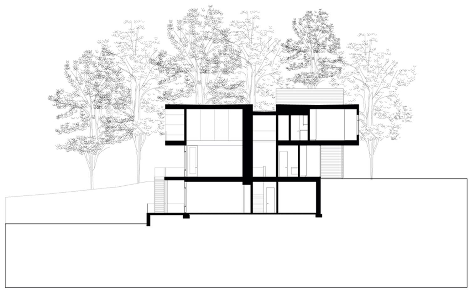 Riggins House - Section   Plans and Elevations   Pinterest