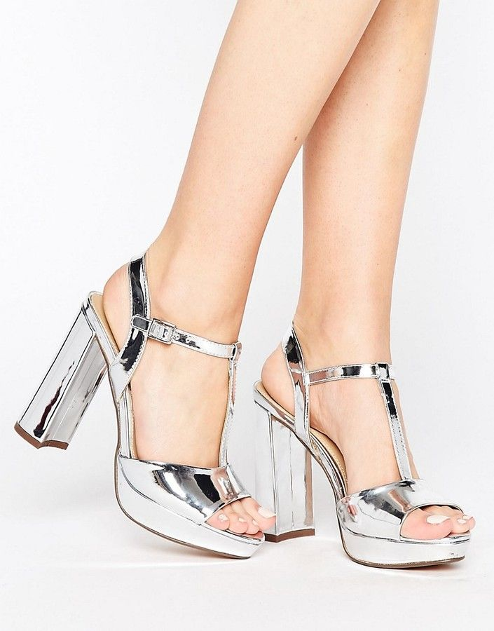 5b8b0acc Asos | Head Over Heels By Dune Missy Metallic Platform Heels | Metalic |  Silver | Holiday Party