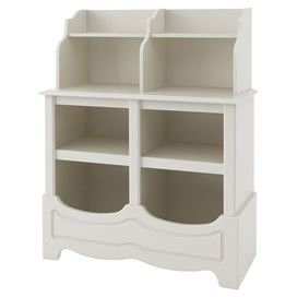 6 Cubby Storage Unit With A Scalloped Design And 2 Shelves. Made In The