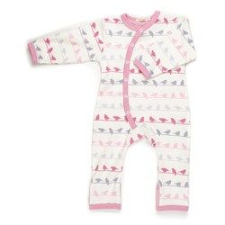 284be806b312 This baby girl baby grow has a unique kimono style opening. It has ...