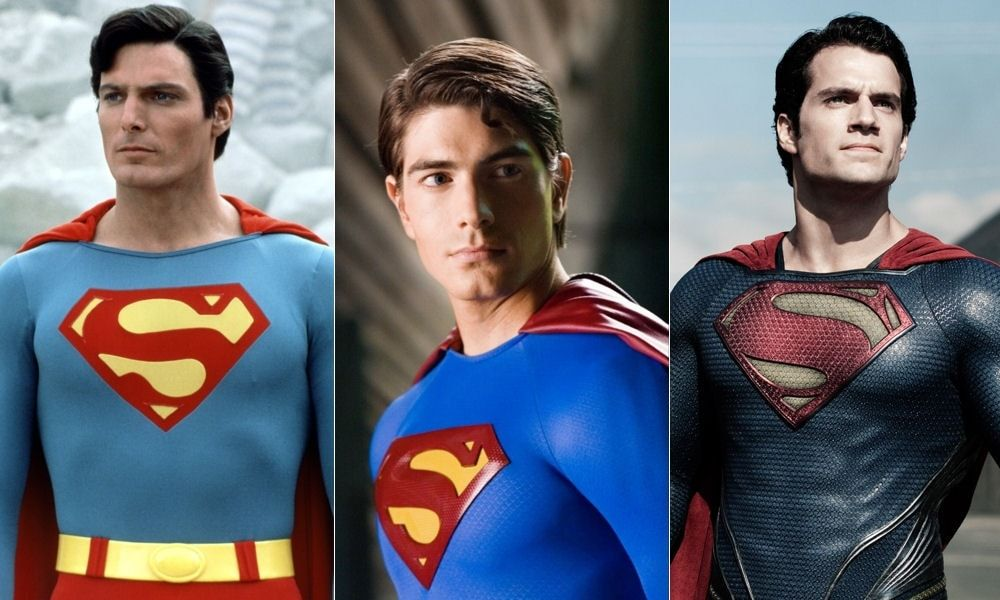 Christopher Reeve Brandon Routh Henry Cavill