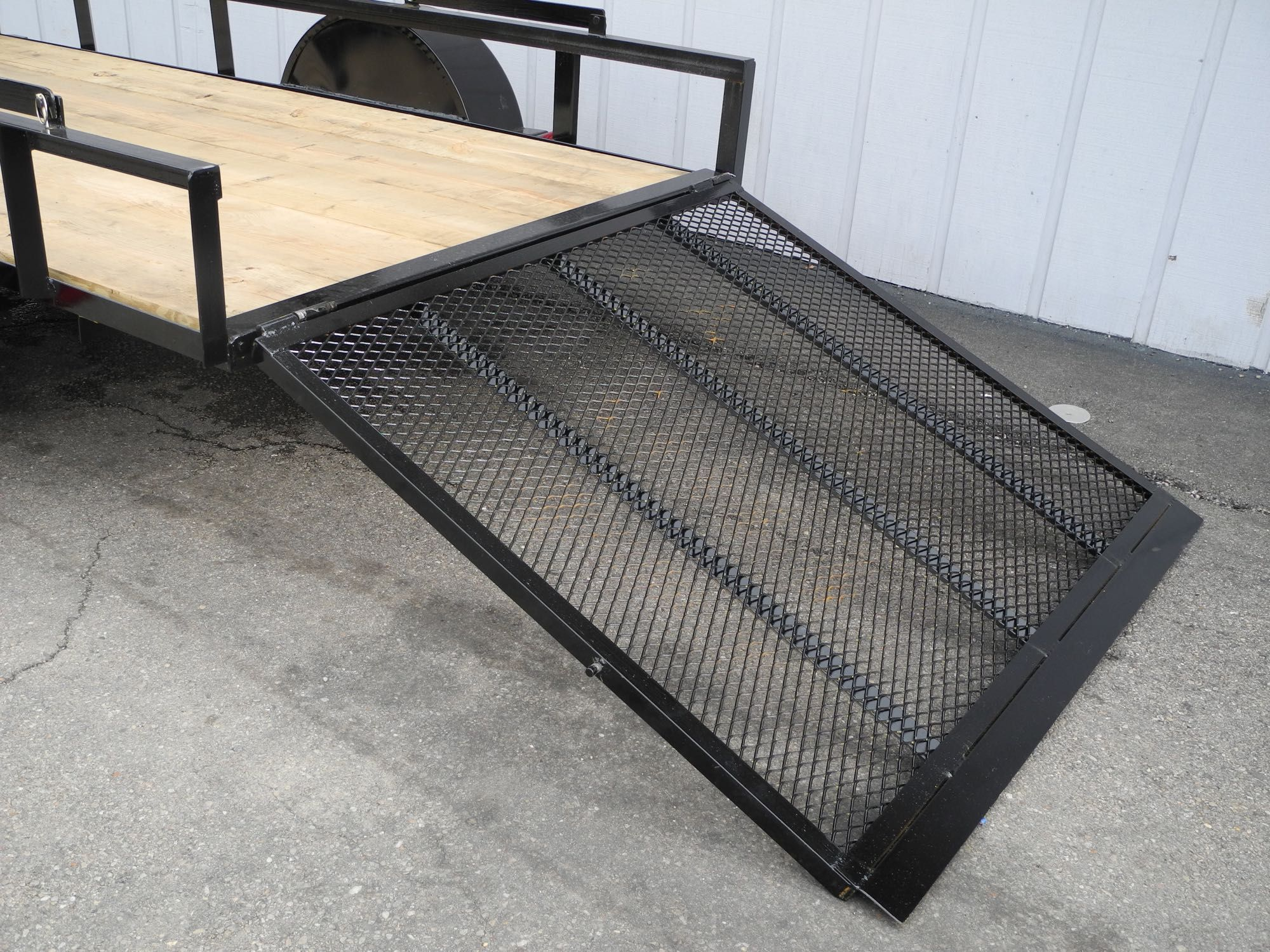 This new 5x10 steel ramp gate utility trailer is a