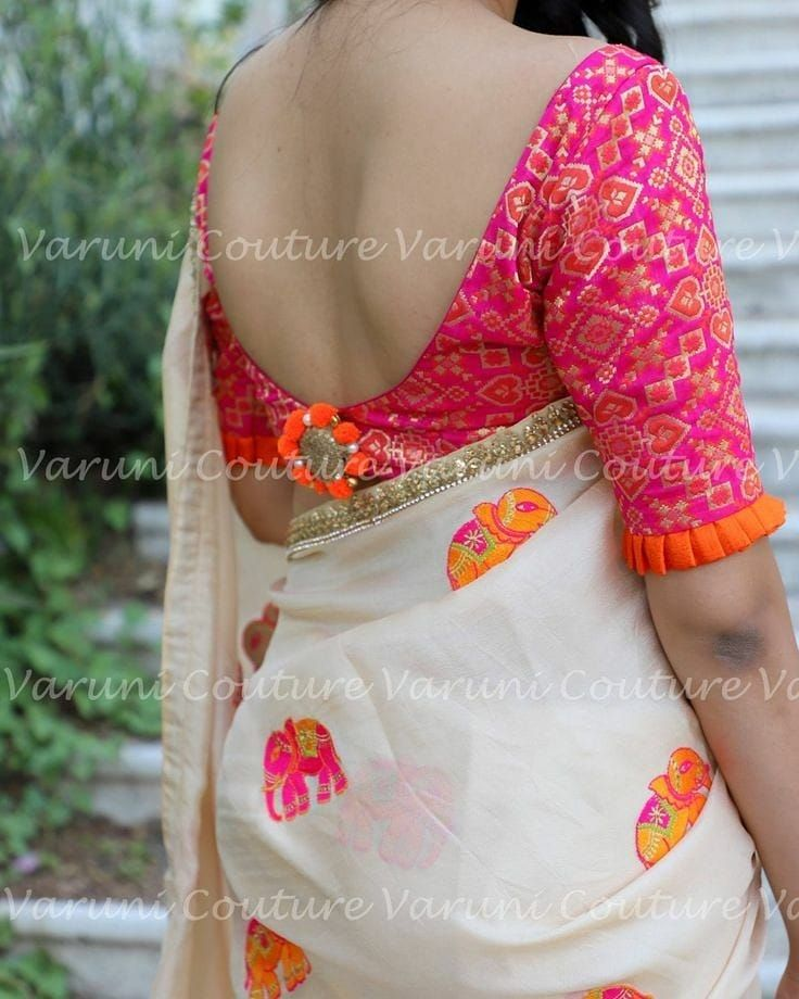 8b31cc53ed30f Designer blouse back neck designs saree styles indian also best images in rh  pinterest
