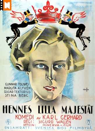 Hennes Lilla Majestat 1925 Swedish Silent Film Margita Alfven Gunnar Tolnaes Silent Film Film Movie Posters