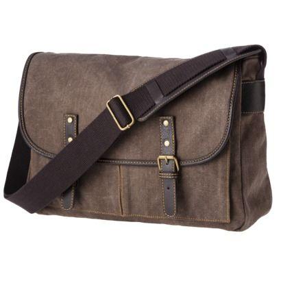 Merona® Men's Canvas Messenger Bag - Brown : Target. I love this ...