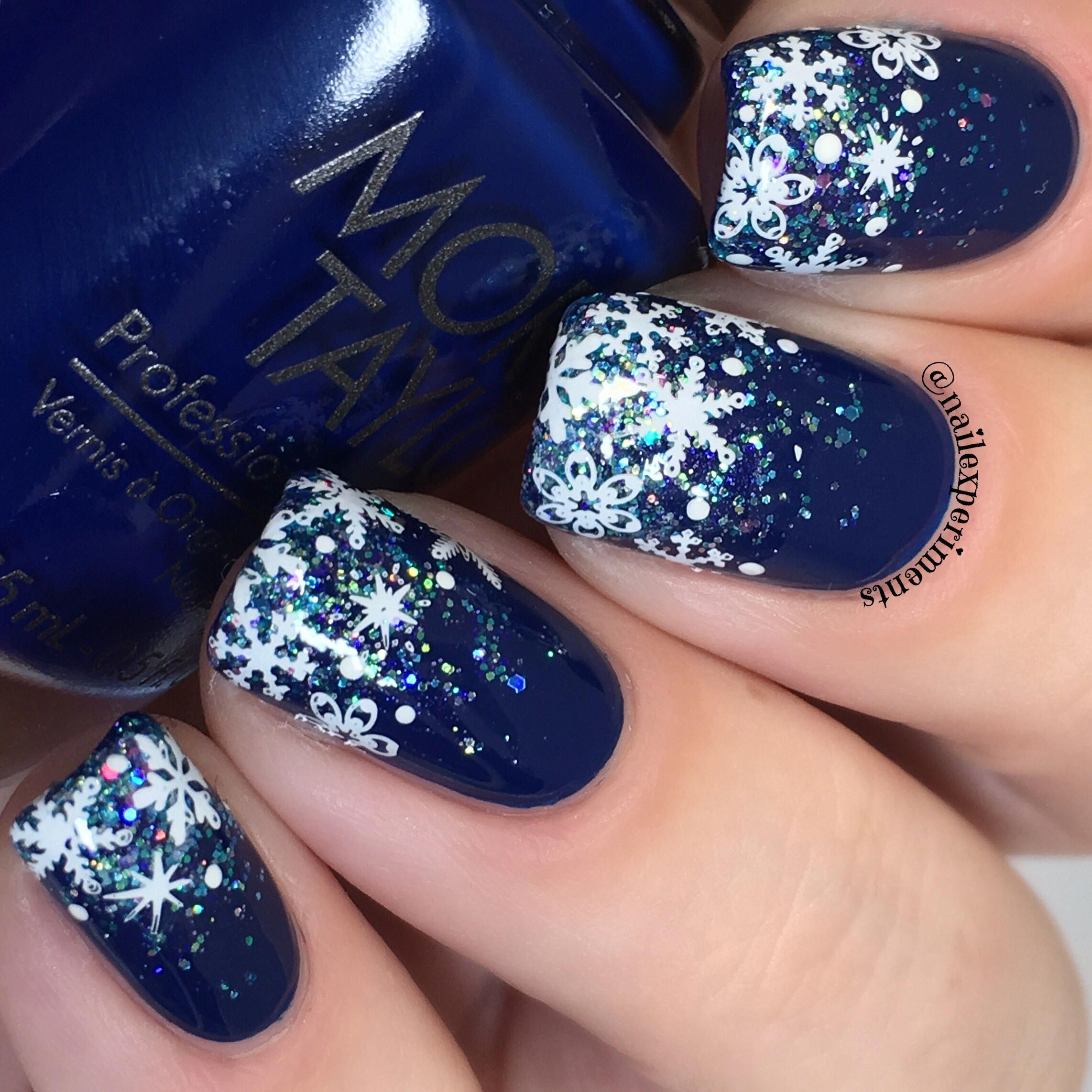 Classy Winter Snowflake Nail Art I Had So Much Fun Creating These
