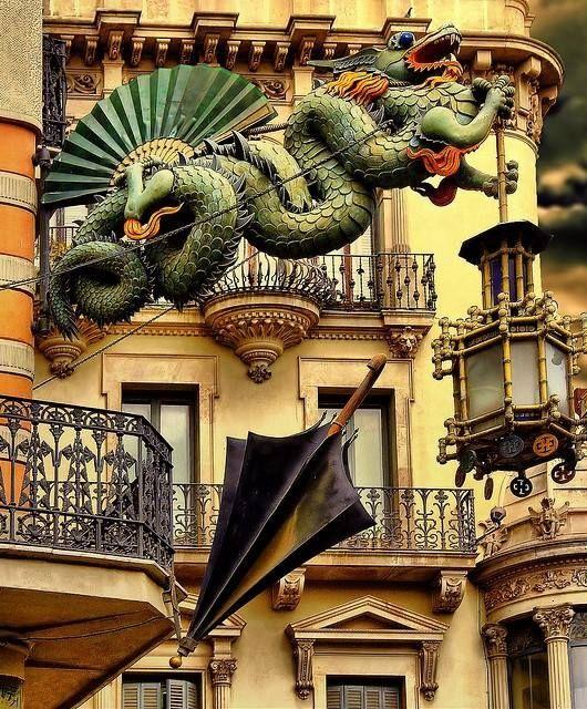 Casa de los Paraguas en la #Rambla de Barcelona