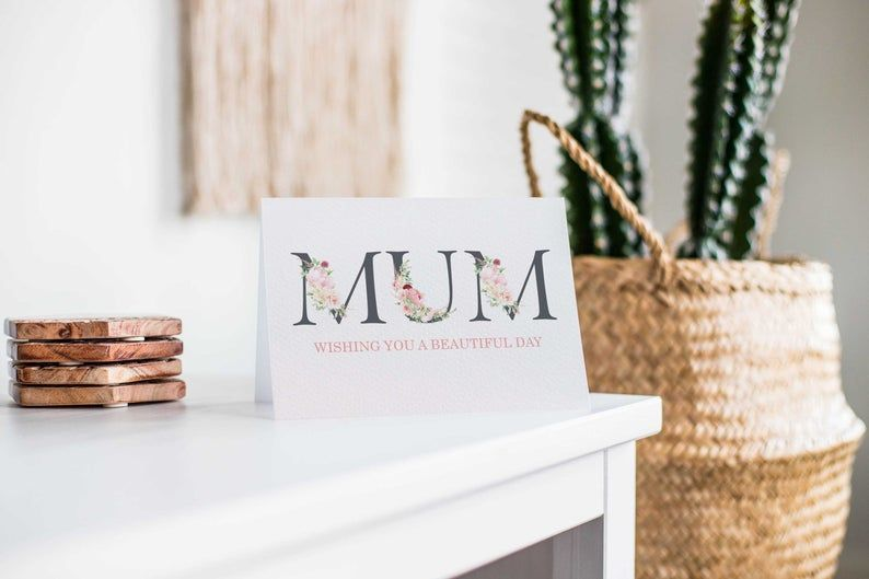 Card for Mum, Mother's Day Card, Birthday Card for Mum, Handmade Card for Mum, Floral Card, Happy M