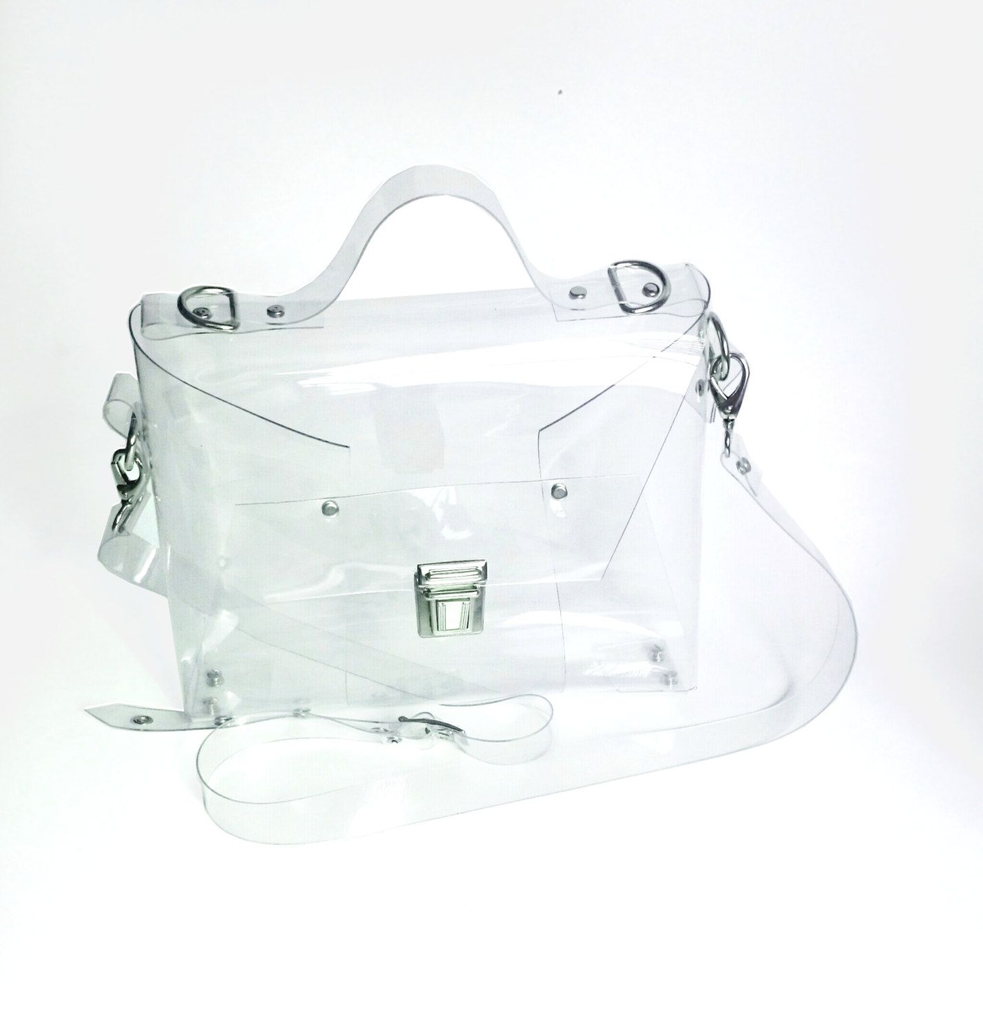 Crossbody Minimalist Bag Clear See Through Plastic By Ypsilonbags