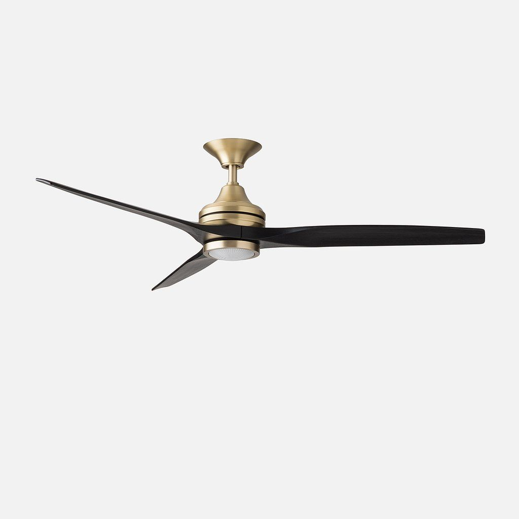 Spitfire 60 Led Ceiling Fan Satin Brass Led Ceiling Fan Ceiling Fan Brass Ceiling Fan