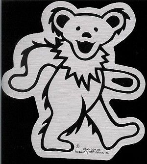 Grateful Dead Chrome Dancing Bear Sticker 4 00 Grateful