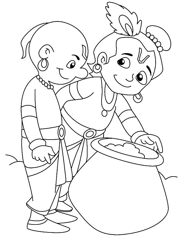Krishna Share Butter With Friend Coloring Pages Download Print Online Coloring Pages For Free Color Ni God Illustrations Dog Coloring Page Coloring Pages