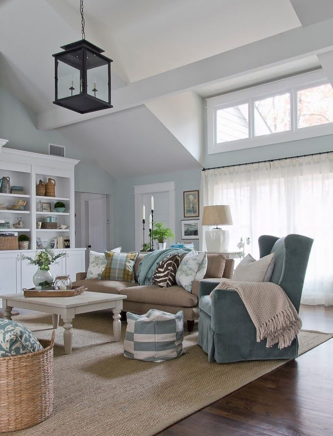 Sherry Hart Designs Coastal Decorating Living Room Coastal Living Rooms Coastal Living Room