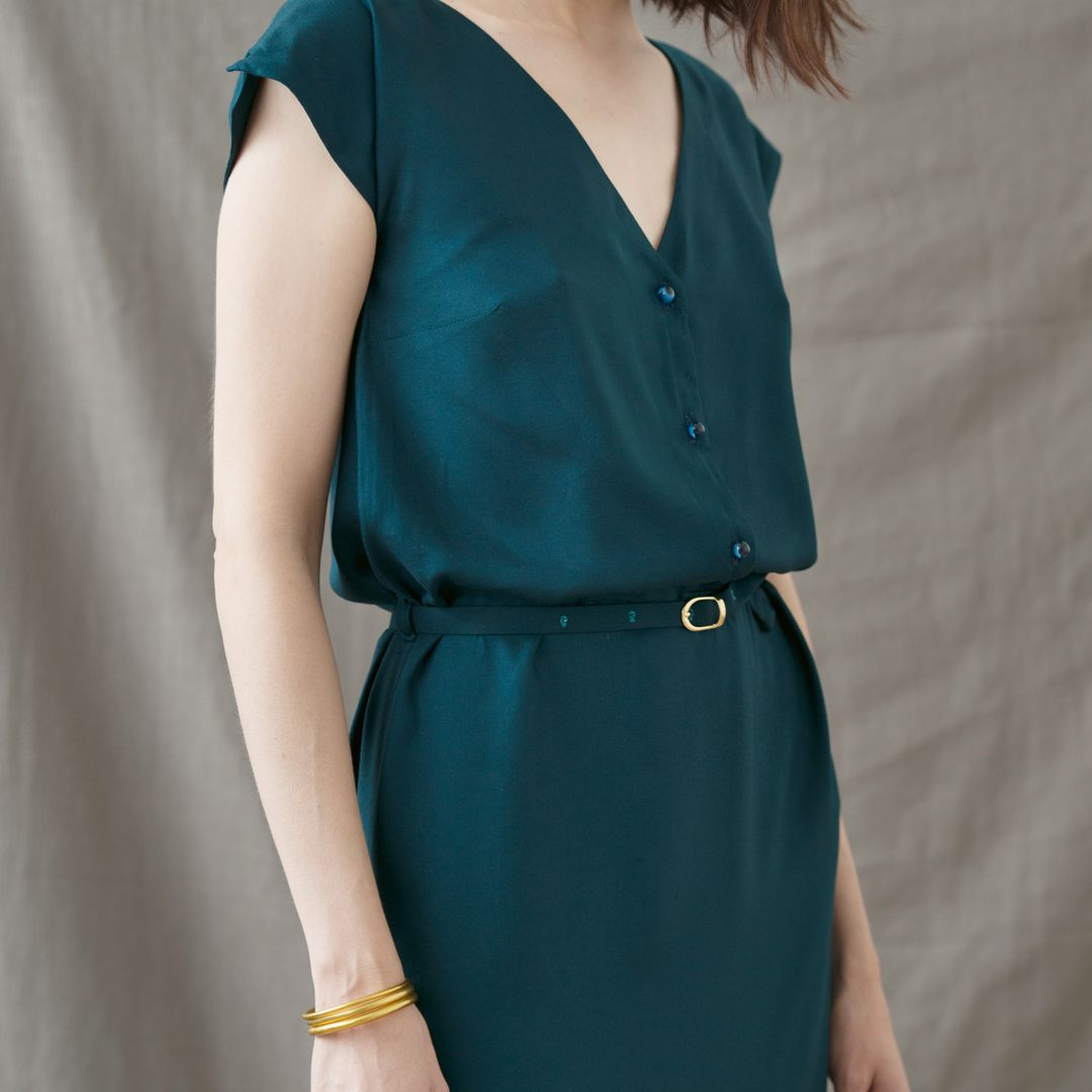 Crepe Forest Viscose Dress Viscose Dress Crepe Fabric Fashion