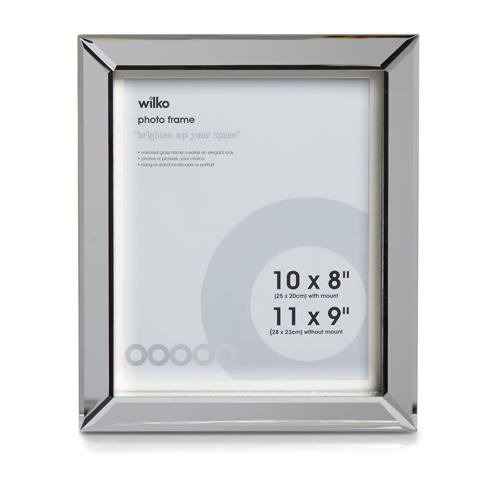 Wilko Block Mirror Photo Frame 10in X 8in Mirror Photo Frames Photo Frame Frame