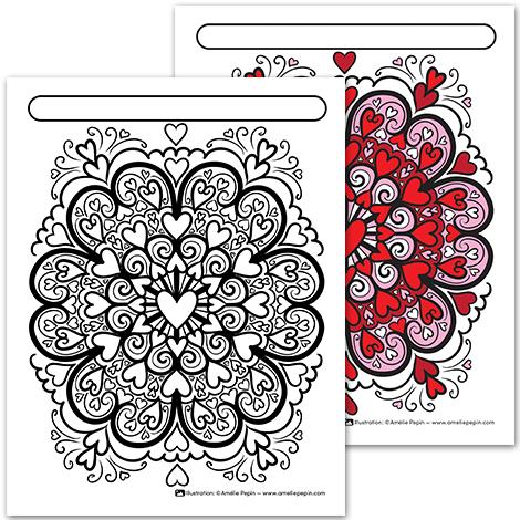 Mandala Saint Valentin Coloriage Ecole Coloriage Ecole