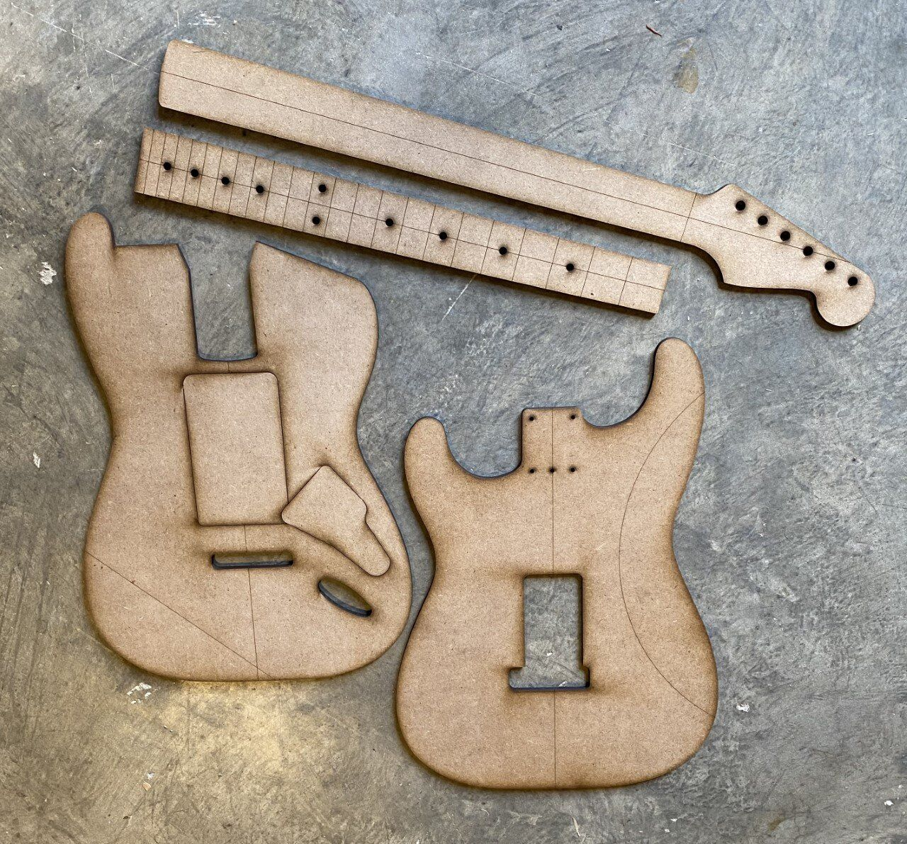 Standard Strat w/swimming pool route — Guitar Building Templates