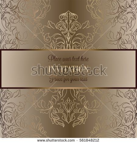 Baroque Background With Antique Luxury Beige Brown And Gold