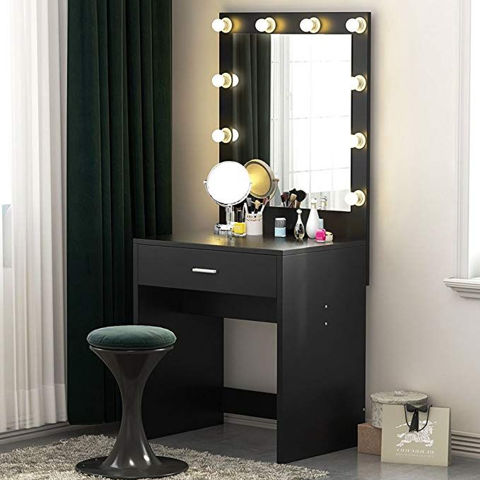 tribesigns vanity set with lighted mirror makeup dressing
