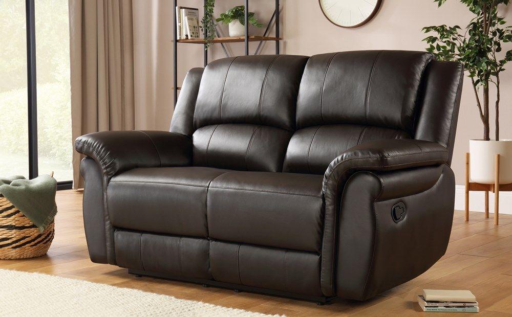 Lombard Brown Leather 2 Seater Recliner Sofa Reclining Sofa Sofa Sofa Furniture