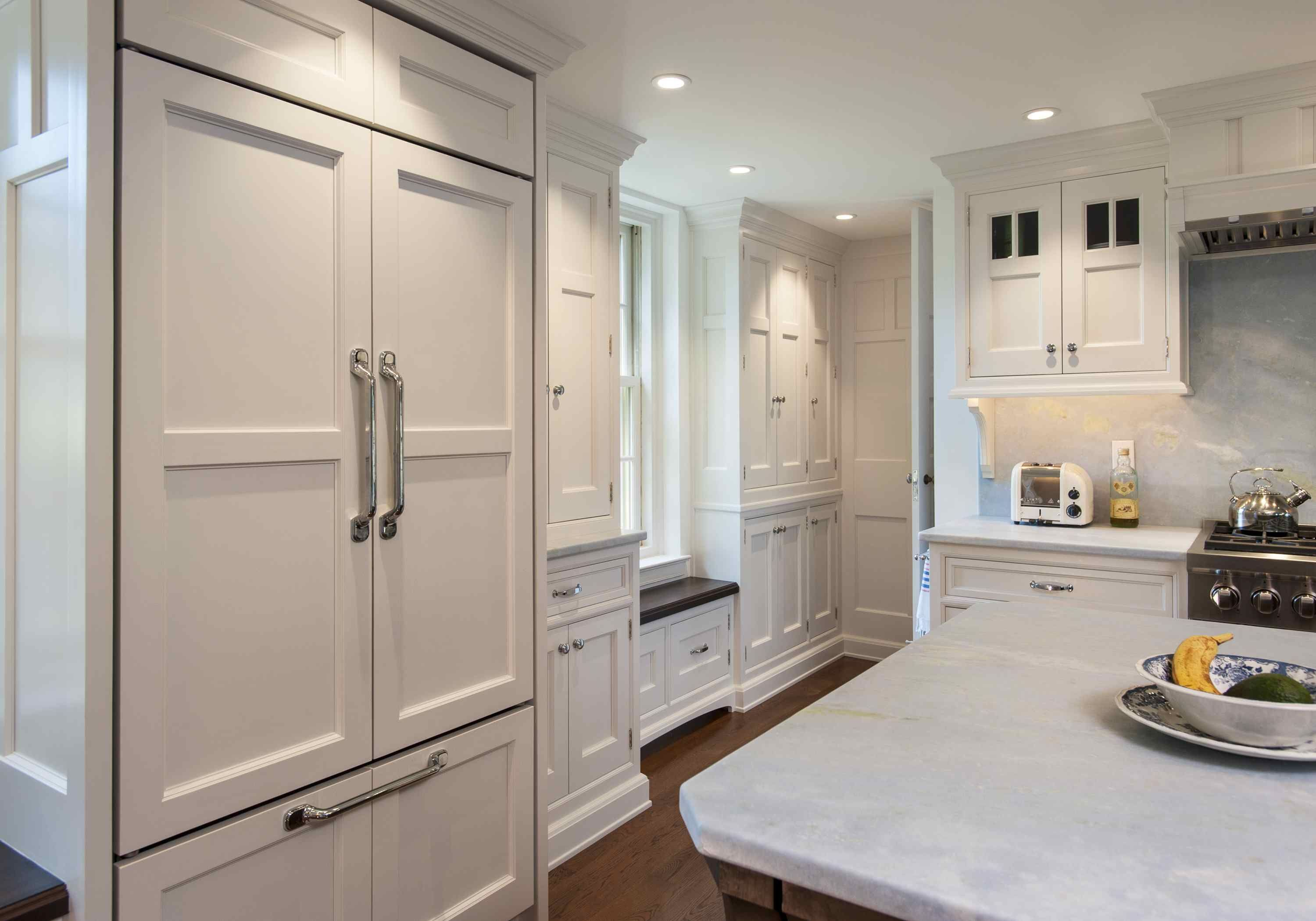 Designed by Main Street Cabinet Co. - The multi-paneled door style ...
