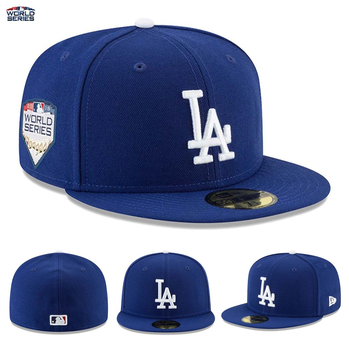 NEW Los Angeles Dodgers New Era 59FIFTY Fitted Hat Cap 2018 World ... e7aac7242e02