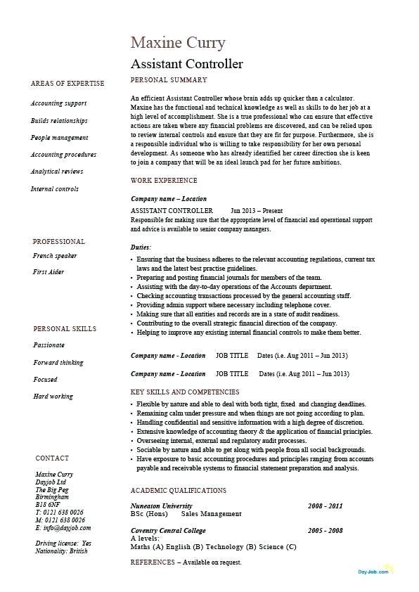 Controller Resume Examples Resume Examples Sample Resume Cover