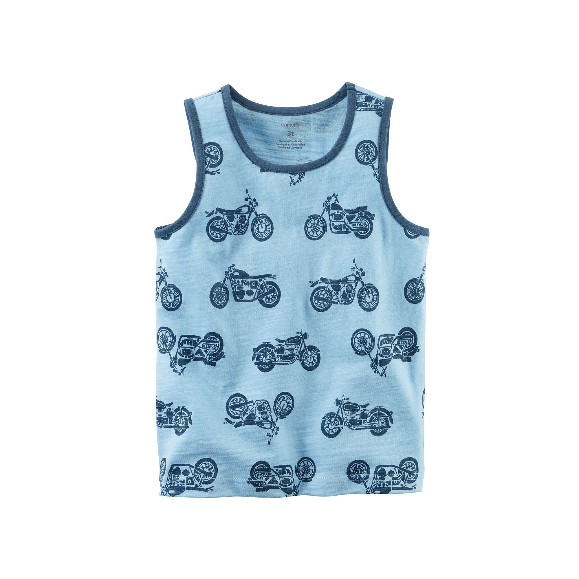 Baby Boy Carter s Printed Pattern Tank Top Size 24 Months Red