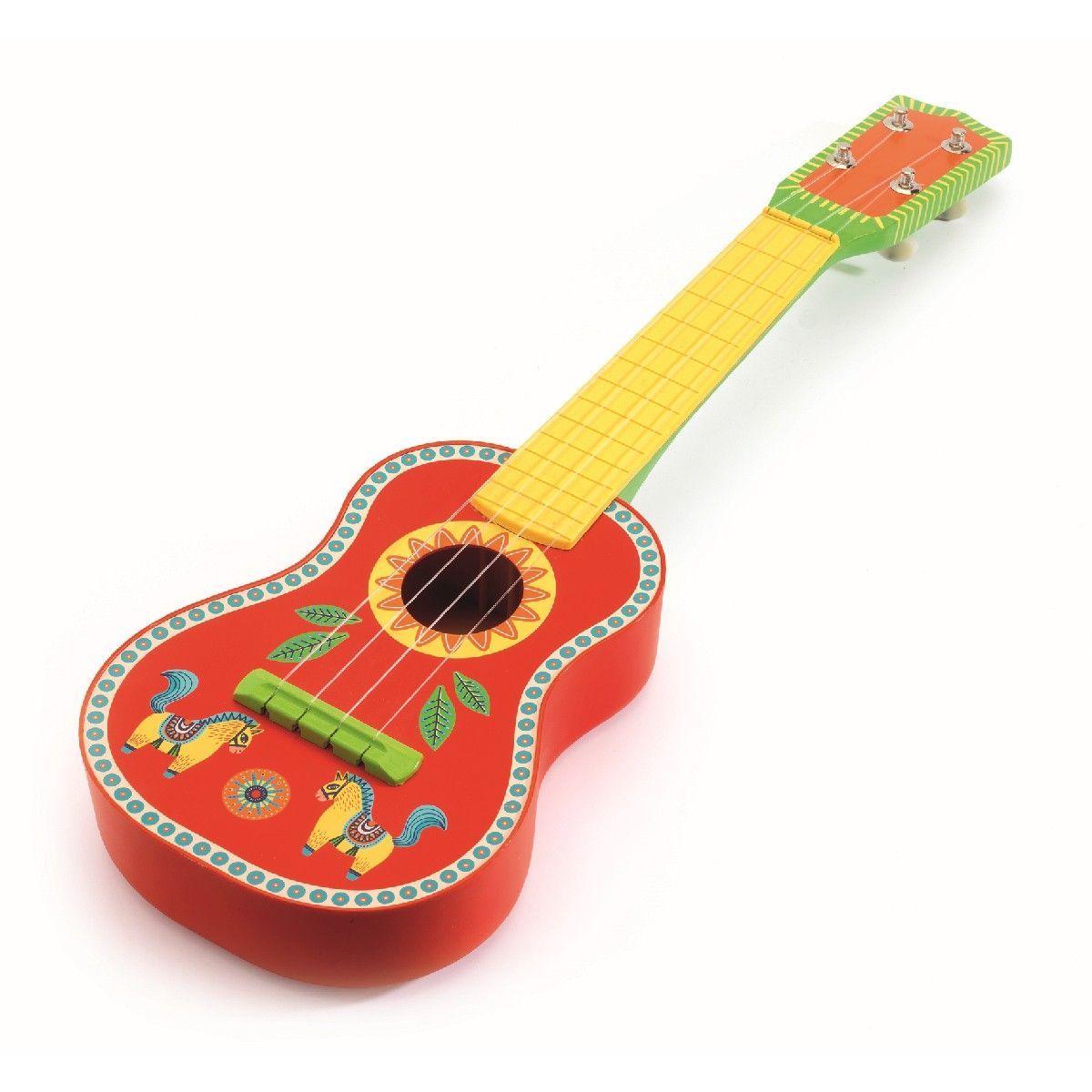 djeco anibambo ukulele in rot mit print 53 cm  gitarre