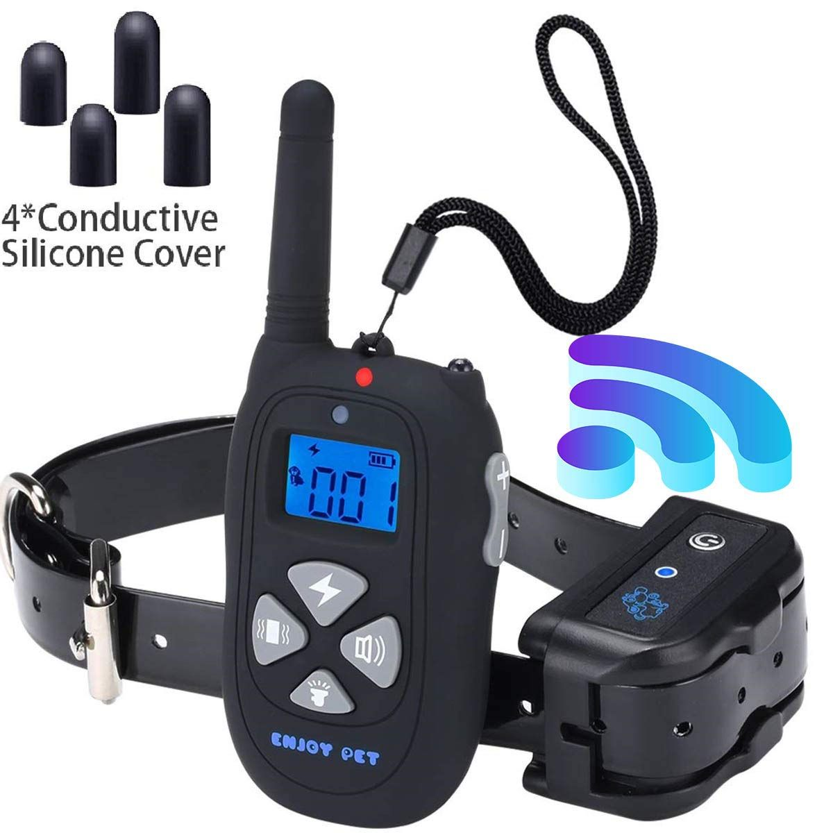 Dog training collar waterproof rechargeable 1450ft remote
