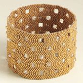 sead beads and sq crystals peyote stitch cuff