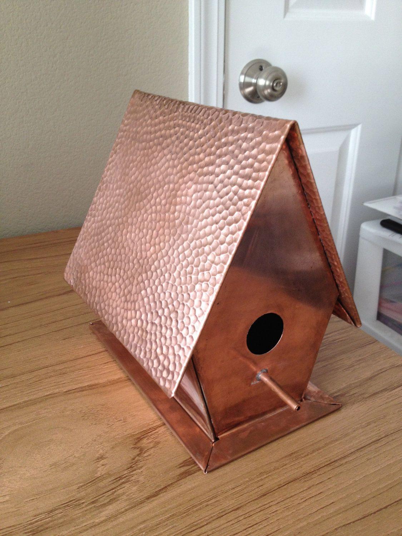 Copper Birdhouse Via Etsy Copper Birdhouses Copper Roof Copper House