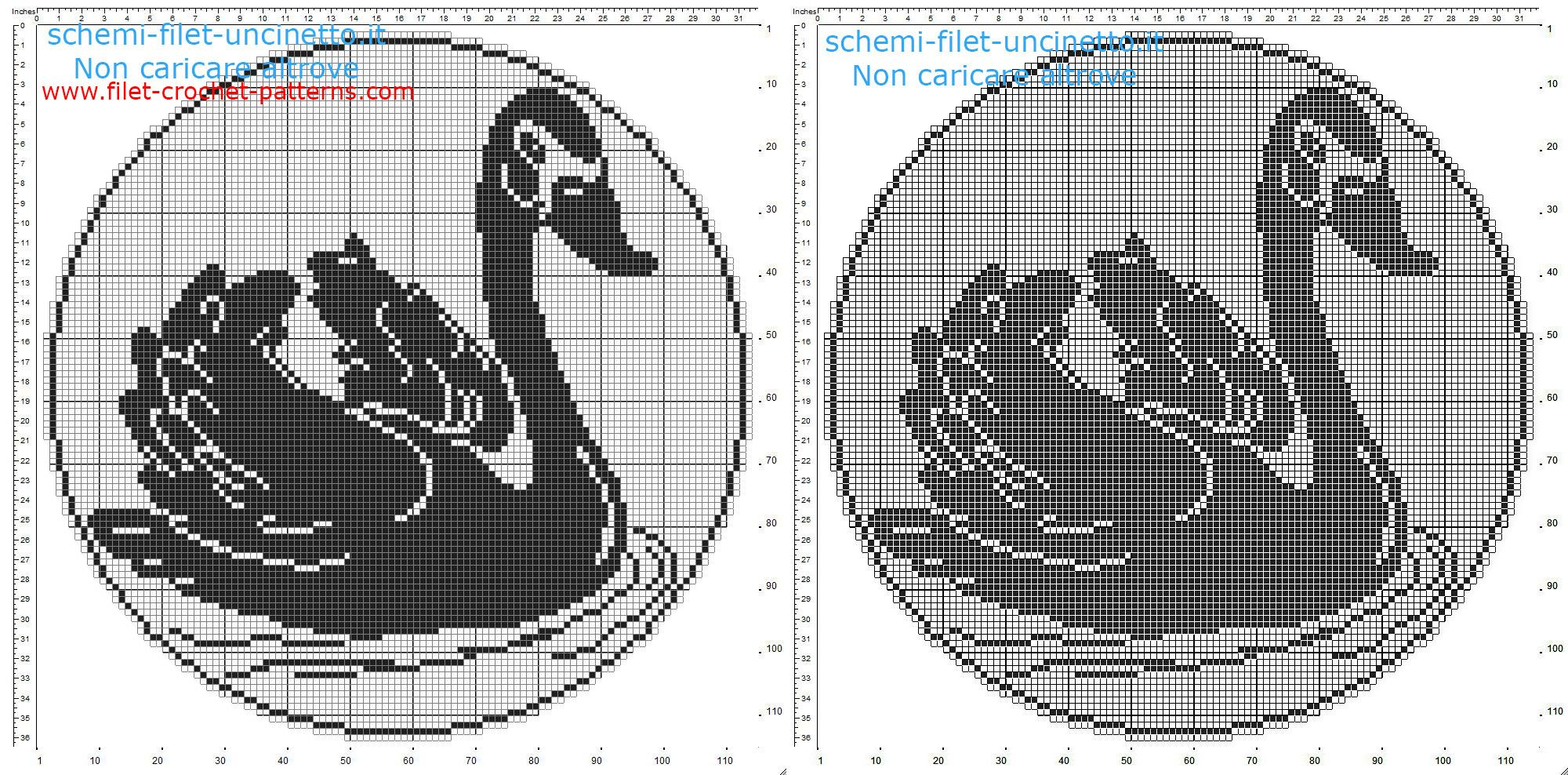 Filet crochet doily with a swan in the lake free pattern download ...