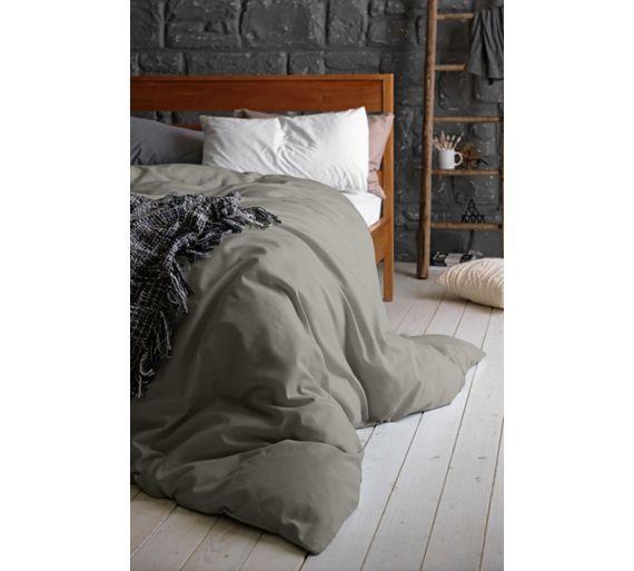 Egyptian Cotton Dove Grey Bedding Set, Grey King Size Bedding Argos