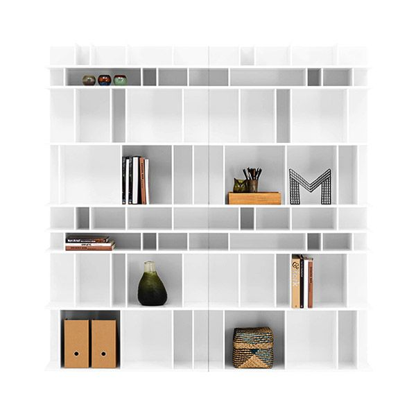 Boconcept Bookcase: Wall System White Lacquer