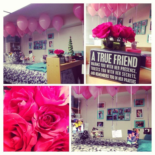 Surprise Birthday Decorating Idea For Caitlyn's Bedroom On