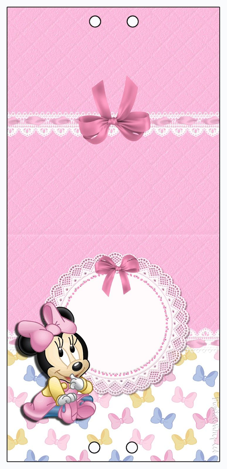 Kit De Personalizados Minnie Mouse Baby Para Imprimir Festa Da