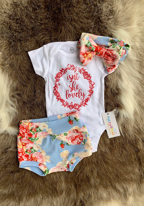 Baby girl floral scale bloomer setoversized newborn girl