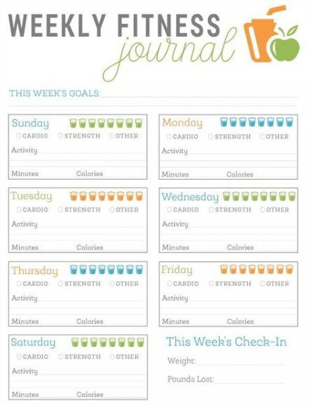 New Fitness Journal Printable Losing Weight Ideas #fitness