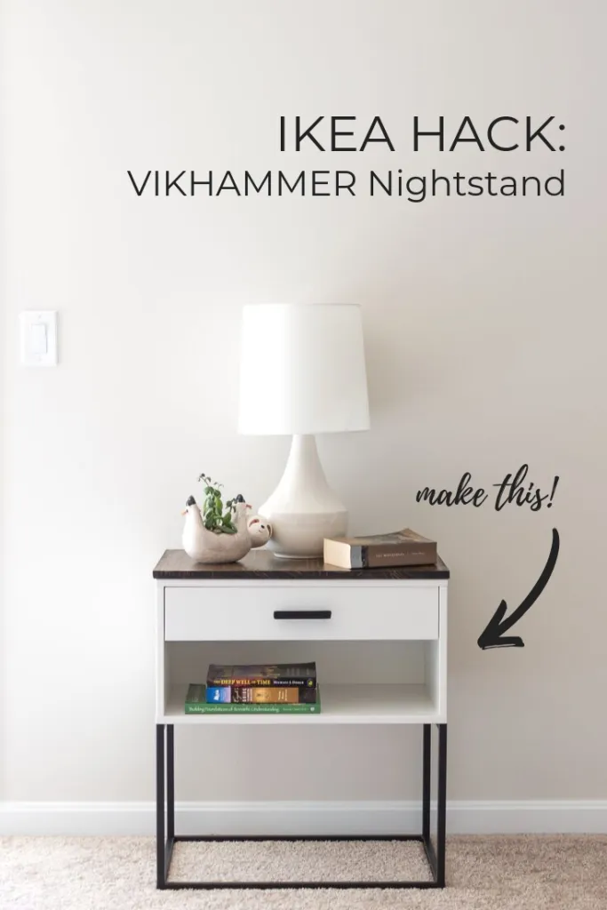 IKEA Hack A VIKHAMMER Nightstand Makeover in 2020 (With
