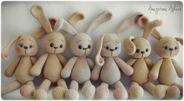Amigurumis Conejos Paso A Paso : Conejo amigurumi patrón gratis saekita ganchillo amigurumi