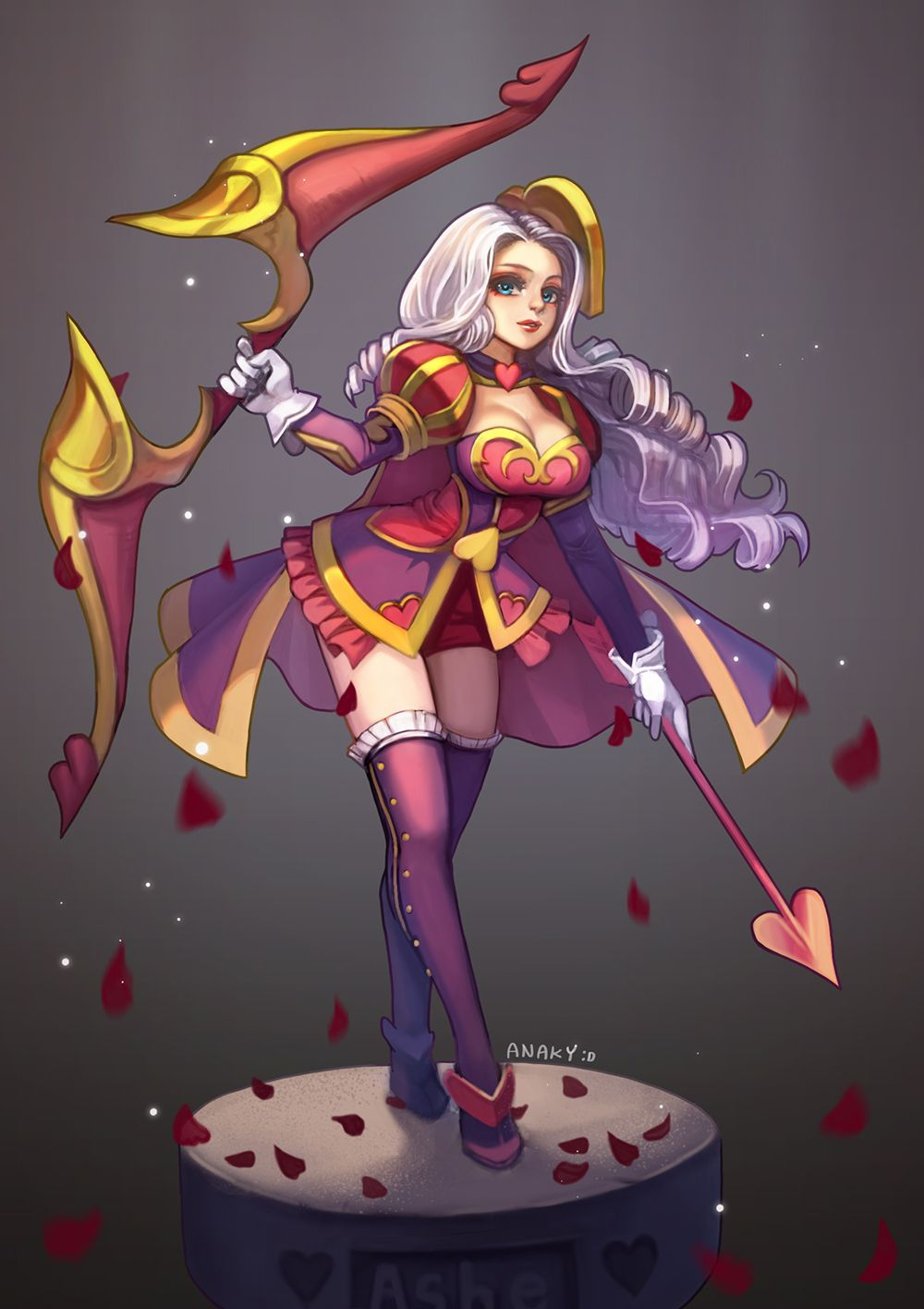 lol illust) Heartseeker Ashe Skin fam art | anaky's game ...