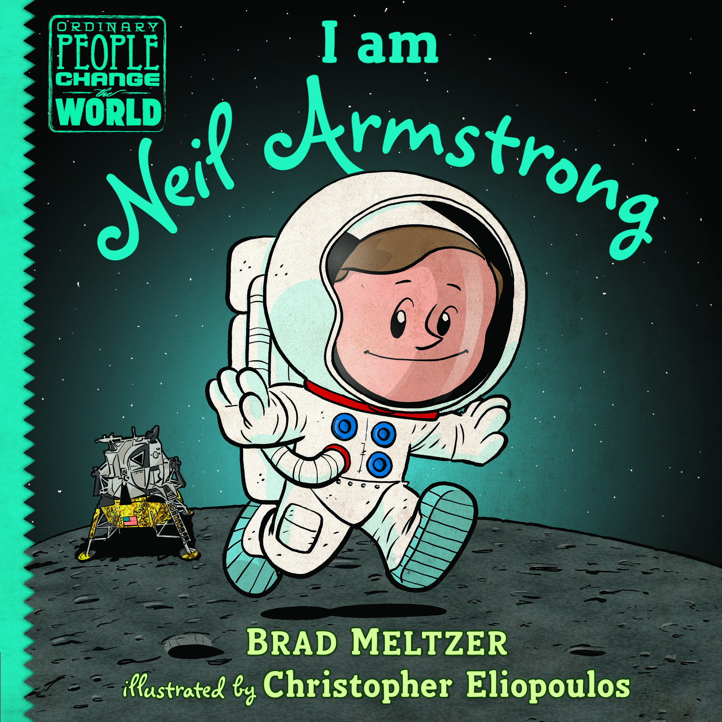 Neil Armstrong's journey to the moon is the focus of Brad